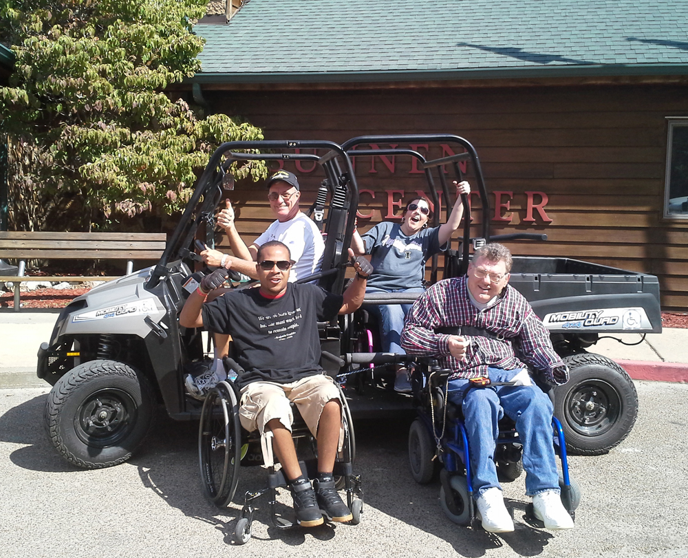 Mobility Quad, Handicapped all terrain wheelchair vehicle